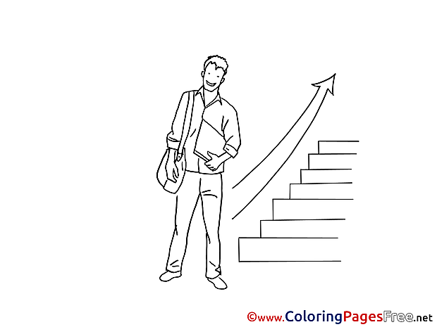 Career Ladder download printable Coloring Pages