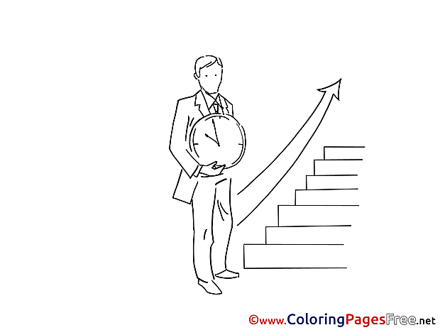 Career Ladder free Colouring Page download