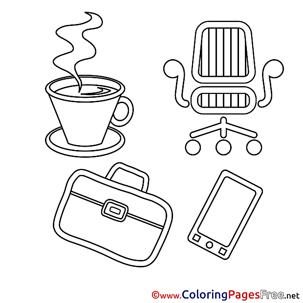Chair Briefcase Colouring Sheet download free