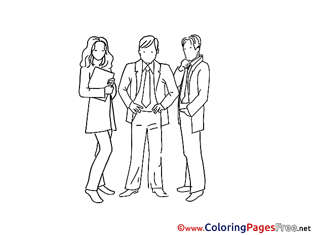 Colleagues for Kids printable Colouring Page