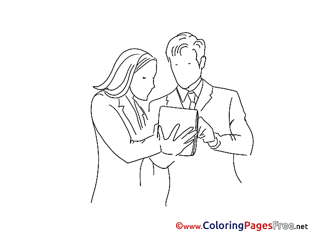 Colleagues Plan printable Coloring Pages for free