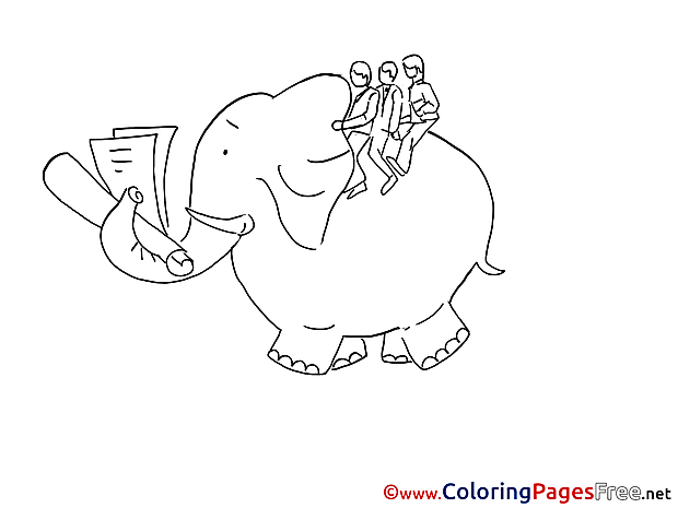 Elephant Colouring Sheet download free