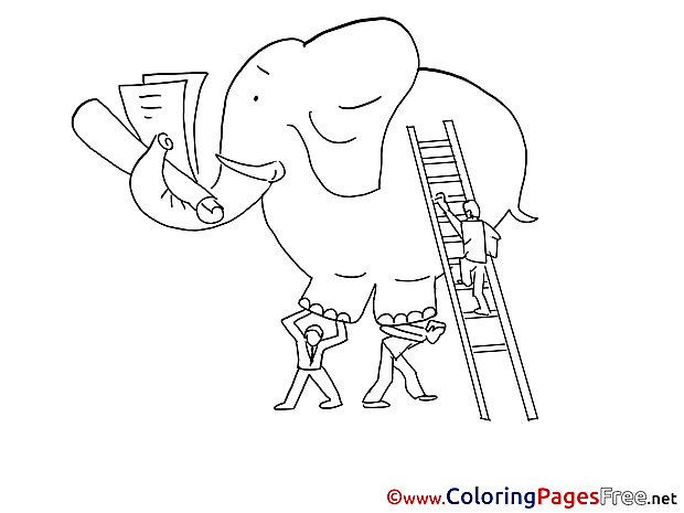 Elephant download printable Coloring Pages