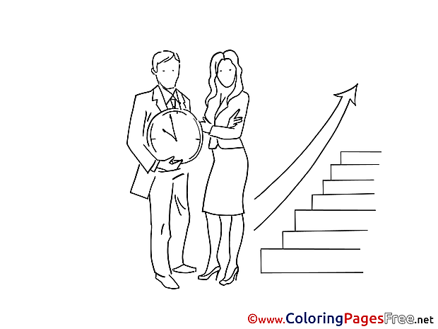 Free Career Ladder Coloring Page