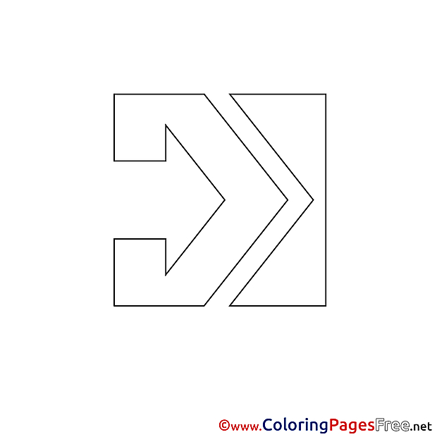 Free Colouring Page Arrow download