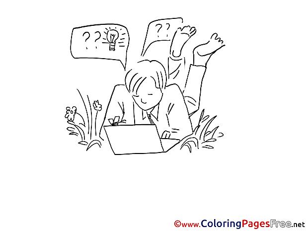 Free Man works Nature printable Coloring Sheets