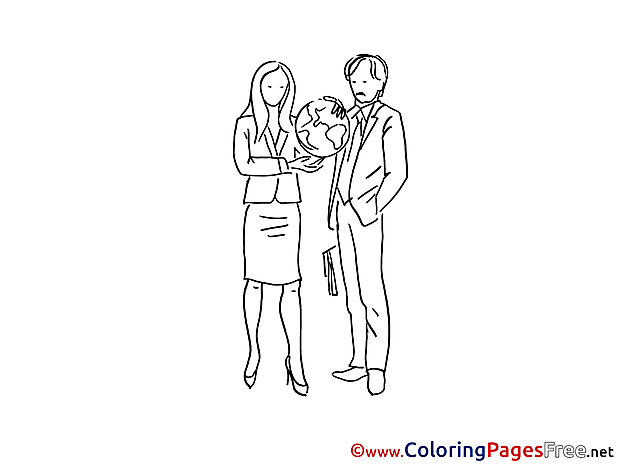Global Partners Colouring Sheet download free