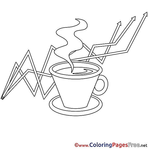 Graph Coffee Kids download Coloring Pages