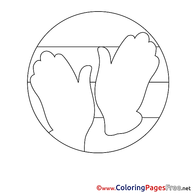 Hands download Colouring Sheet free