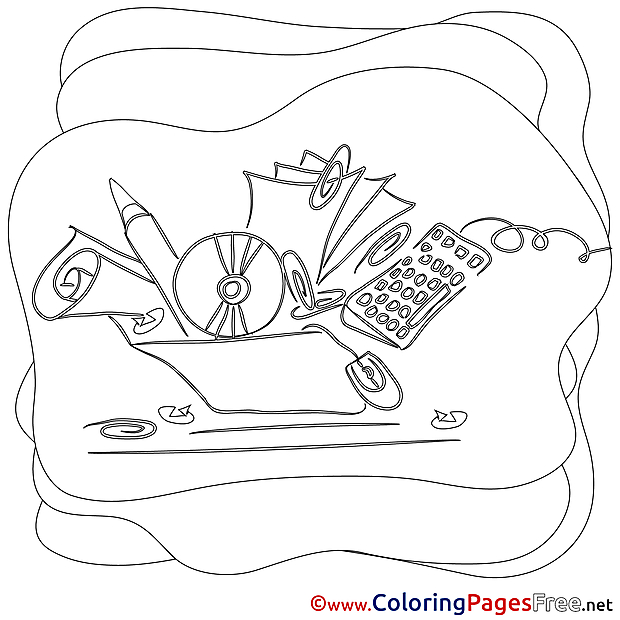 Kids free Work Coloring Page