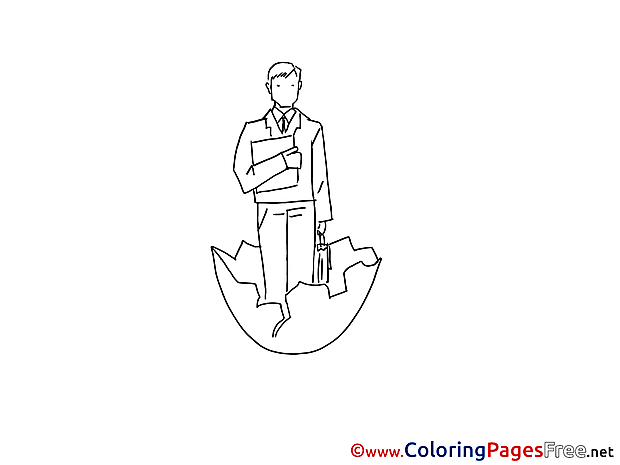 Manager born free Colouring Page download