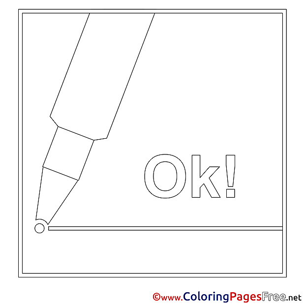 Marker Colouring Page printable free