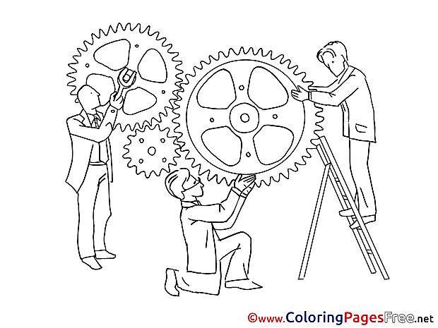 Mechanism Workers Kids download Coloring Pages