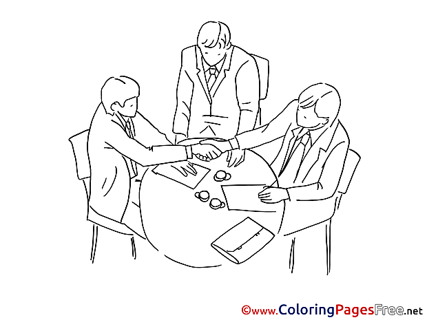 Meeting printable Coloring Sheets download