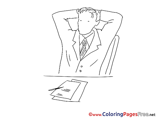 Office Job Kids download Coloring Pages