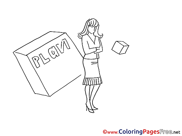 Plan Woman for free Coloring Pages download