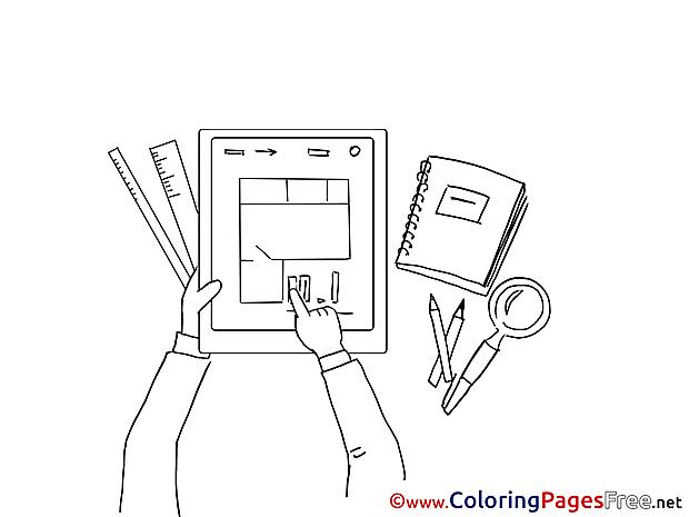 Plan Work Colouring Sheet download free