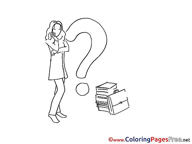 Problem Woman download Colouring Sheet free
