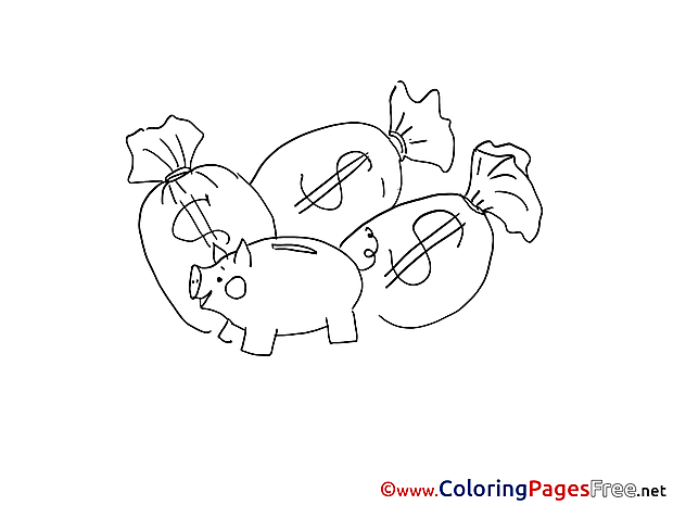 Savings Coloring Pages for free