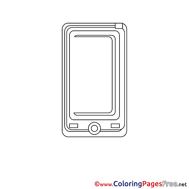Smartphone free Colouring Page download