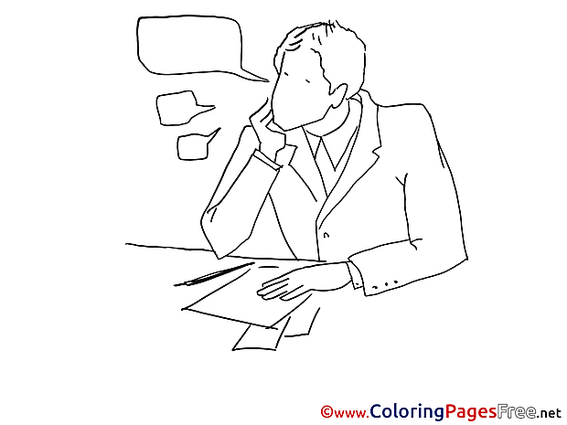 Task Job for Children free Coloring Pages