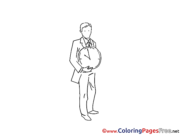 Time Colouring Sheet download free