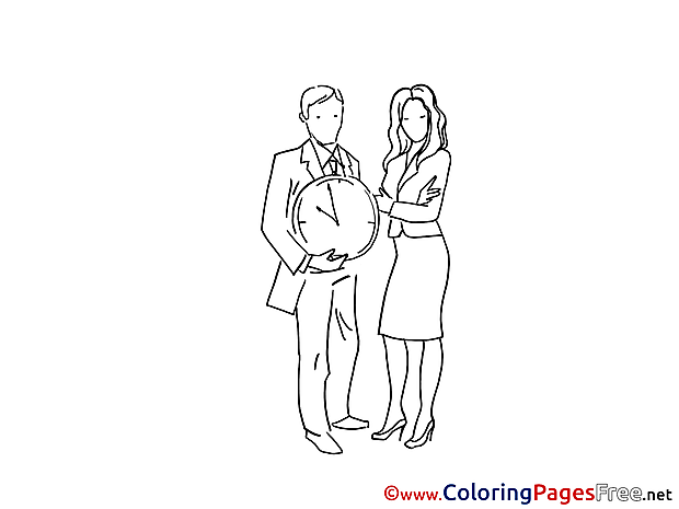Time download printable Coloring Pages