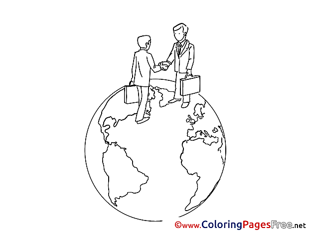Travel Business for Kids printable Colouring Page