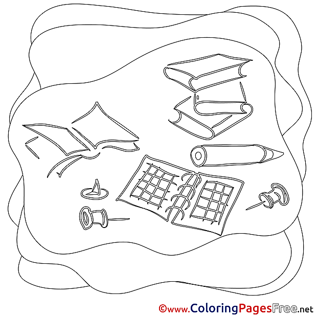 Work Colouring Sheet download free