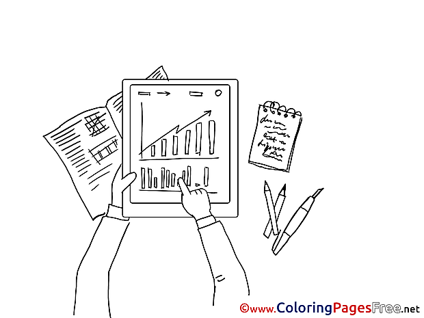 Work Diagram Children Coloring Pages free