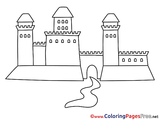 Castle for Children free Coloring Pages
