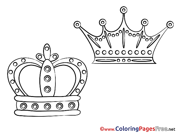 Colouring Sheet Crowns download free