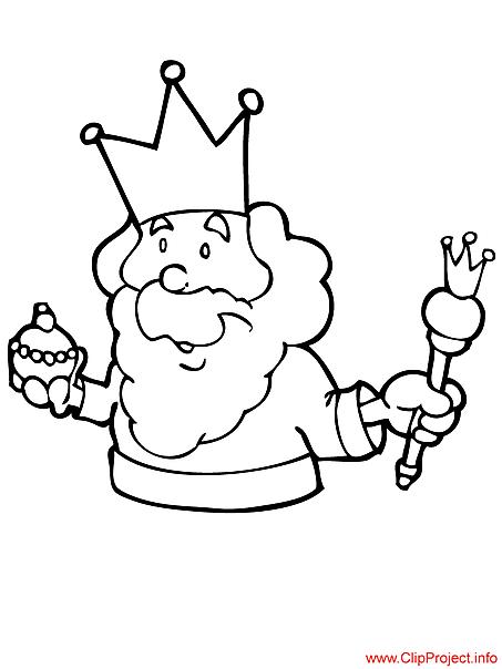 King coloring free