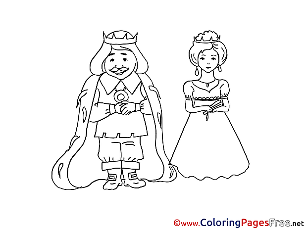 King Coloring Sheets download free