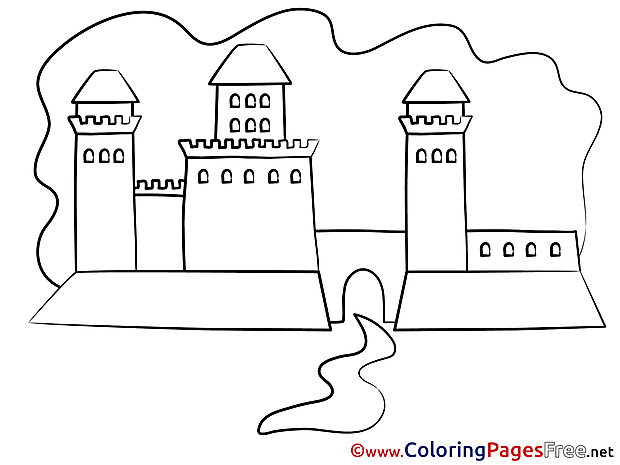 Palace printable Coloring Pages for free