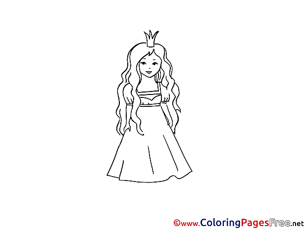 Princess Kids download Coloring Pages