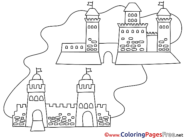 Towers download Colouring Sheet free