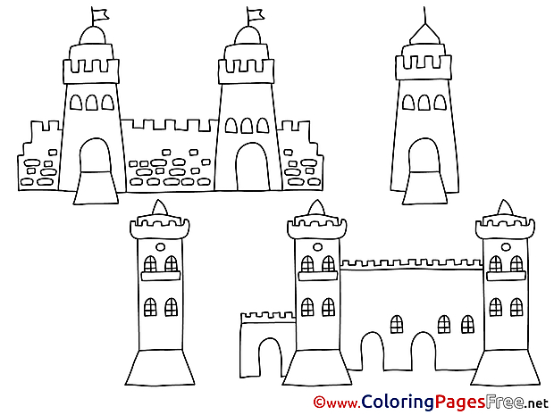 Towers for free Coloring Pages download