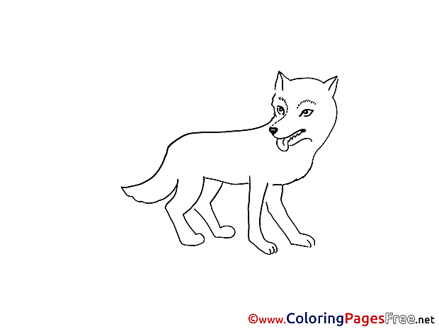 Wolf Children download Colouring Page