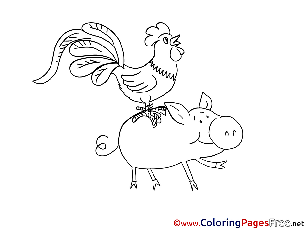 Animals for Children free Coloring Pages