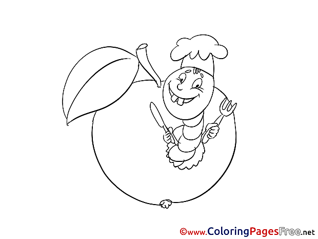 Apple printable Coloring Sheets download