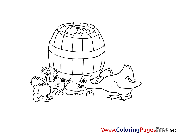 Barrel Colouring Page printable free