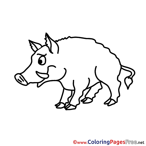 Boar free printable Coloring Sheets