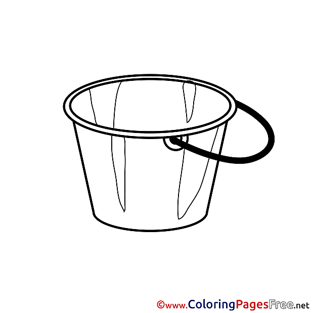 Bucket download Colouring Sheet free