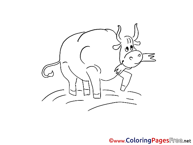 Bull Kids free Coloring Page