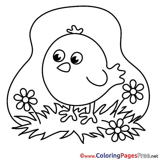 Chicken Children Coloring Pages free