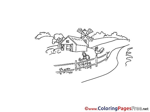 Farm Colouring Page printable free