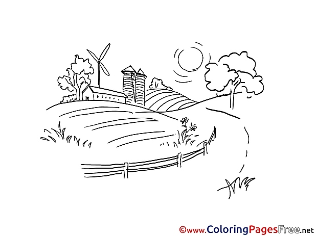 Farm for free Coloring Pages download