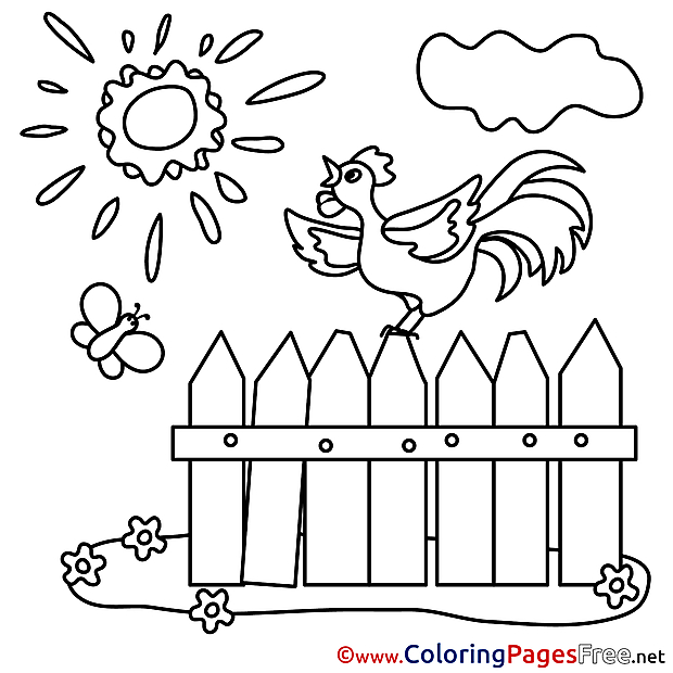 Fence for Children free Coloring Pages