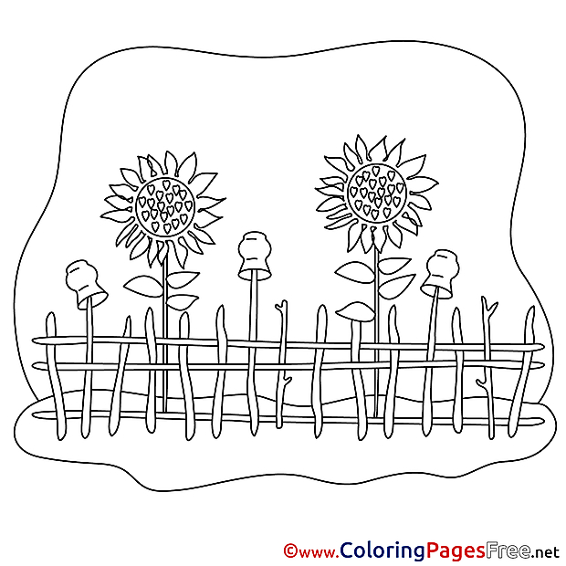 Flowers Kids download Coloring Pages